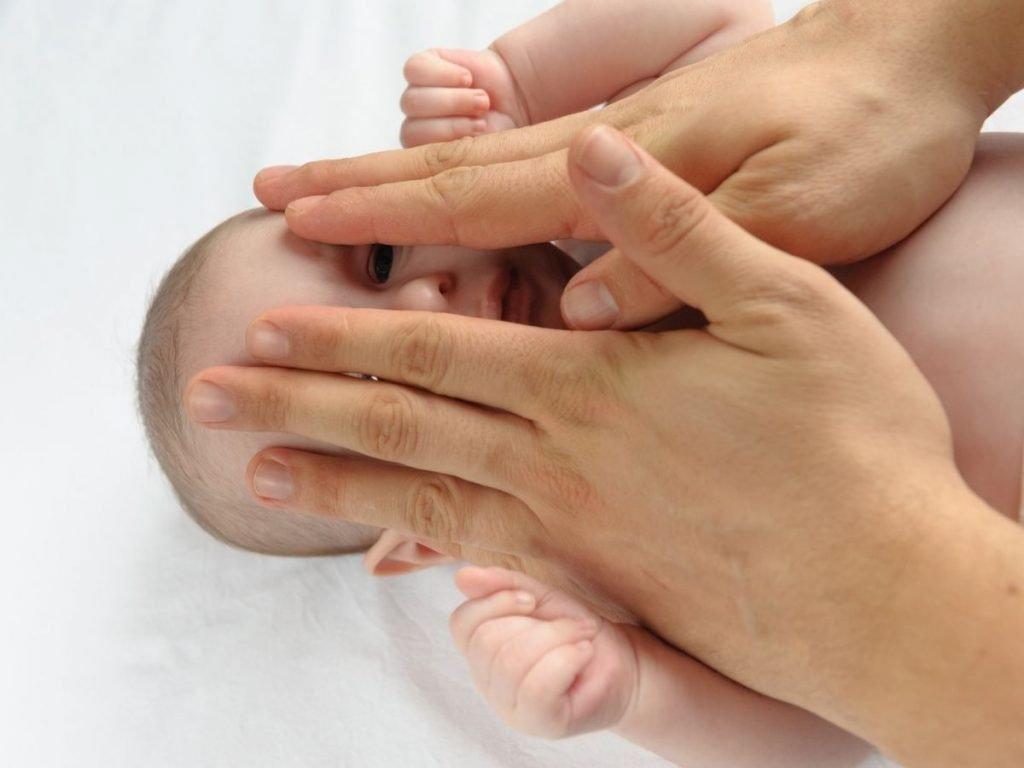 baby massage face